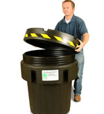 95 Gallon Open Head Plastic Salvage Drum (recycled model) | Open Head Plastic Drums & Barrels