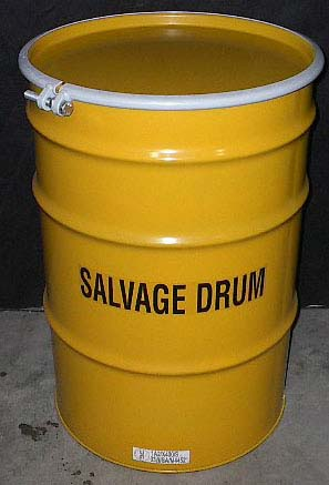 55 Gallon, Open Head Steel Salvage Drum