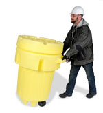 95 Gallon Open Head Plastic Salvage Drum (wheel model) | Open Head Plastic Drums & Barrels