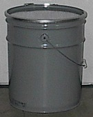 5 Gallon, Open Head Steel Pail
