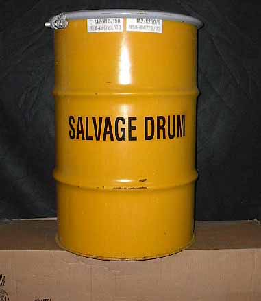 30 Gallon Open Head Salvage Steel Drum
