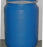 7 - 55 Gallon Plastic Drums For Sale