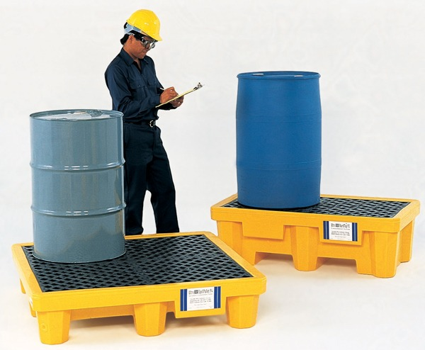 Spill Pallet P4 – 6000, (With Drain)