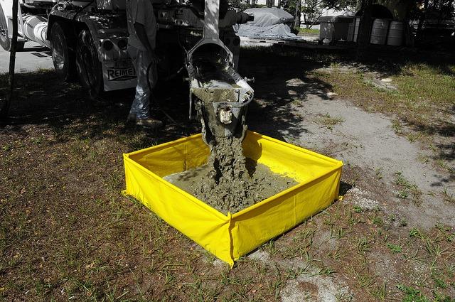 Concrete Washout Berm at YBDCO