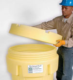 new - 65 Gallon Plus, Plastic Salvage/Overpack Drum