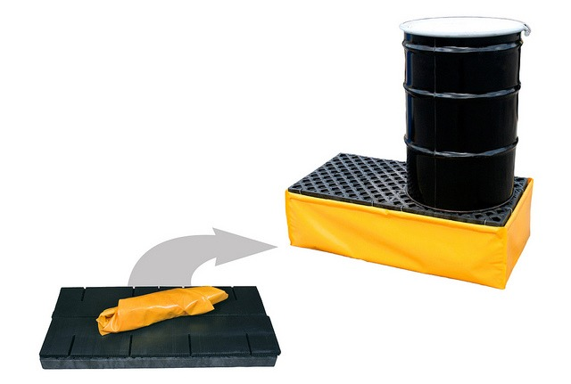 Ultra-Spill Pallet, Flexible Model P2, With Drain
