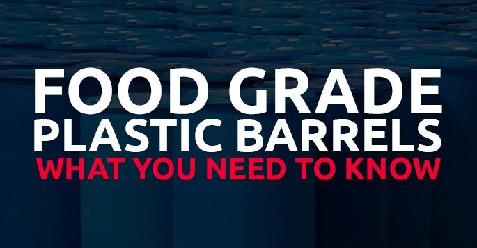 food grade plastic barrels for sale