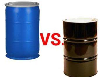 polyethylene drums vs steel barrels