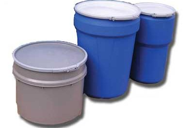 open head plastic drums 3pack